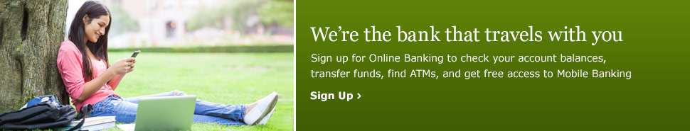 sign up for bank account online
